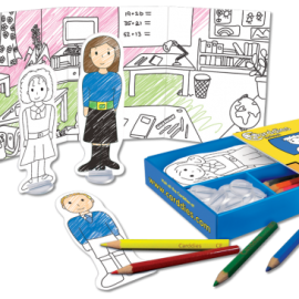 School Colouring In Carddies Set, Arts & Crafts for Kids