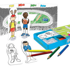 Sports Colouring In Carddies Set, Arts & Crafts for Kids