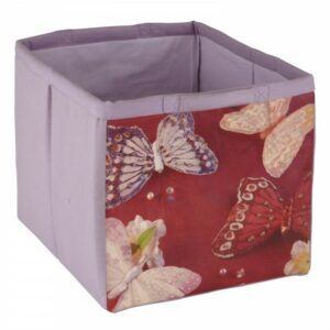 Fabric Storage Tote - Butterflies