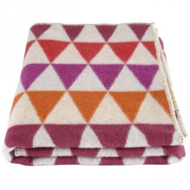 Geometric Blanket, Pink for Kids Bedding