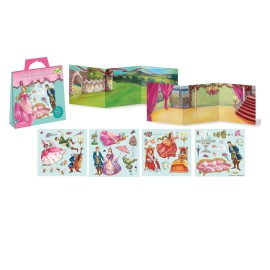 Princess Ball Sticker Tote Arts and Crafts Games for Kids on the Go Peaceable Kingdom