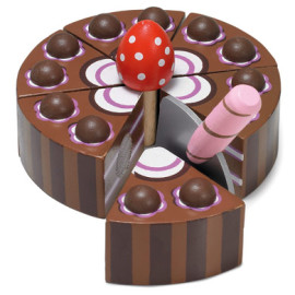Wooden Chocolate Cake Pretend Play for Kids from Le Toy Van