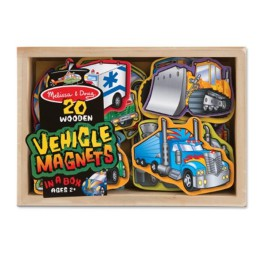 Wooden Vehicle Magnets for Kids Melissa & Doug Transport cars and Trucks