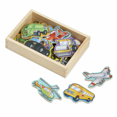 Magnetic Wooden Vehicle Set
