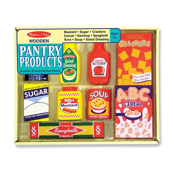 Wooden Pantry Food Set