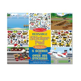 Reusable Sticker Pad Vehicles Trucks Cars for Kids Arts and Crafts