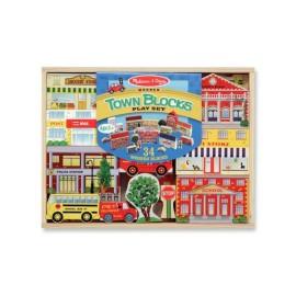Town Blocks Wooden Play Set Pretend Play for Kids Melissa & Doug