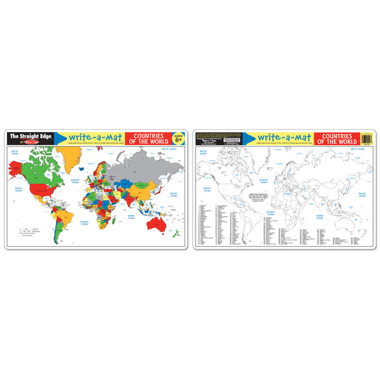 Write-A-Mat Countries of the World