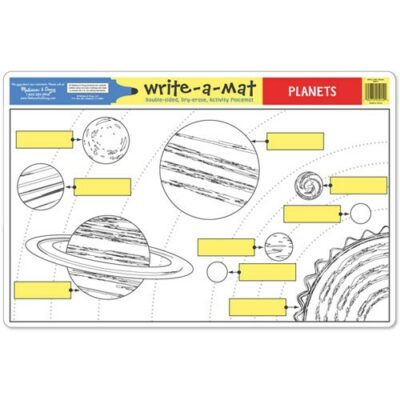 Write-A-Mat Planets