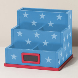 Blue Star Desk Tidy Storage Accessories for Kids Desks Study