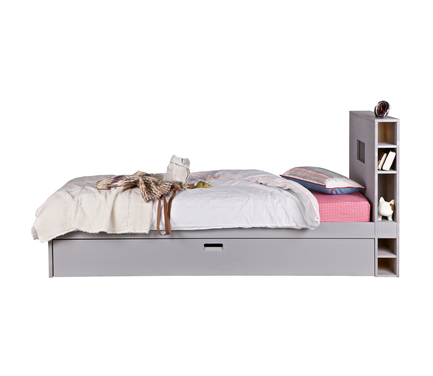 Boat Bed With Trundle And Toy Box Storage: Chase Storage Bed With Underbed Trundle