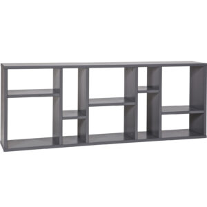 Horizon Wall Shelf with 10 Compartments - Steel Grey