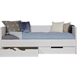 Jade Day Bed, Solid Pine White for Kids