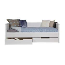 Jade Sofa Day Bed with Two Drawers White Solid Wood Kids Children Furniture
