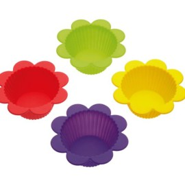 Kitchen Craft Let's Make Silicone Flower Cake and Jelly Moulds Baking and Making for Kids