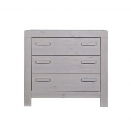 New Life Baby Changing Table Brushed Solid Pine Pebble Grey for Nurseries
