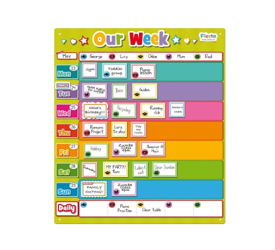 Our Week Planner for Kids Charts by Fiesta Crafts