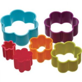 Set of 6 Flower Shaped Cookie Cutters Making and Baking for Kids Colourworks