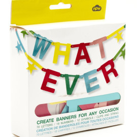 Whatever Make Your Own Party Banner Kit NPW Kids Decor