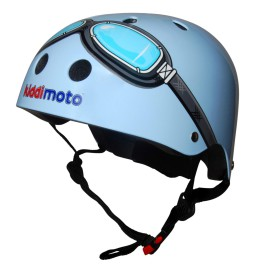 Blue Goggles Safety Helmet for Kids Bikes, Ride Ons Skating