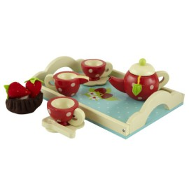 Honeybake Wooden Tea Set Pretend Play for Kids