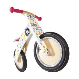 Pastel Dotty Kurve  Balance Bike by Kiddimoto Outdoor Fun for Kids