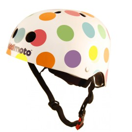 Pastel Dotty Safety Helmet for Kids Bikes, Ride Ons Skating