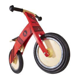 Red Tyre Kurve Balance Bike by Kiddimoto Ride Ons Outdoor Fun for Kids