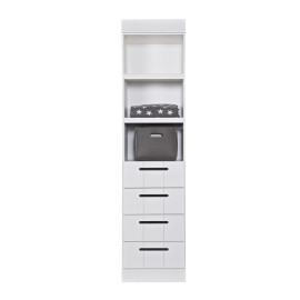 Connect Dresser Unit, Solid Wood, White