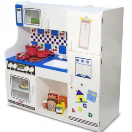 Deluxe Play Kitchen for Kids Pretend Play Wooden Toys and Games