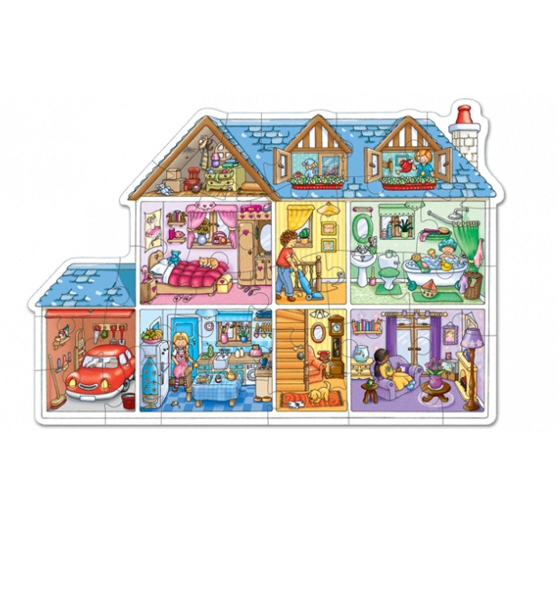 Dolls House Floor Puzzle SAVE R60.00 (20%)