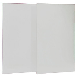 Modular Storage System Pack of 2 Large White Doors for Bookcase Kids Bedrooms and Playrooms by Stompa