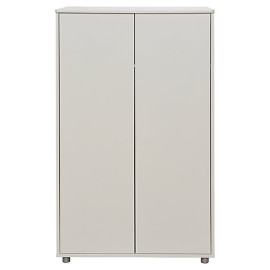 Short Wardrobe for Children Storage underneath Highsleeper Bed, White