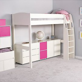 UNO S Highsleeper Bed Frame Space Saving Bed for Children, White crop