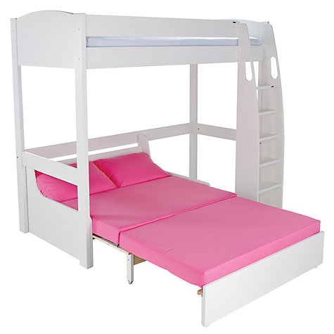 UNO S Highsleeper Bed white headboards & Sofa Bed by STOMPA