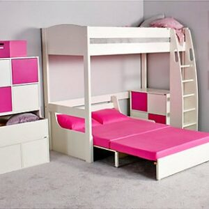 UNO S Highsleeper Bed (white headboards) & Sofa Bed by STOMPA