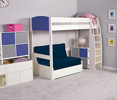 Uno S High Sleeper Bed Coloured