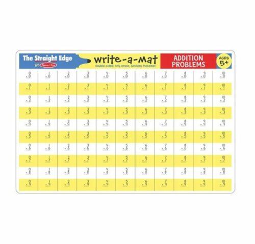 Write-A-Mat Addition Problems
