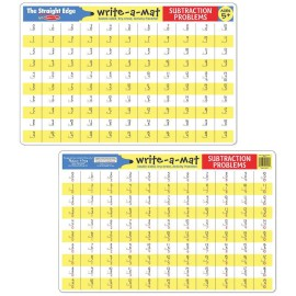 Write-a-mat subtration problems fun learning for kids