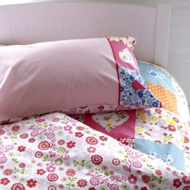 Bright Patchwork Reversible Duvet Set for Girls Bedding
