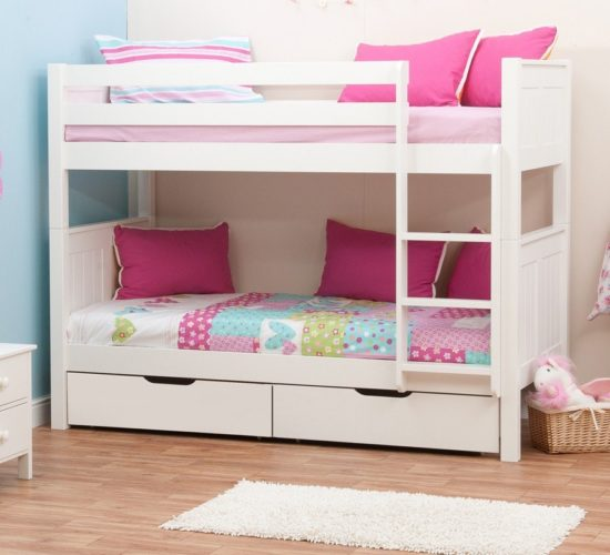 Kids Bedroom Cupboard Designs Bedroom Bed On Floor Bedroom Paint Ideas Purple Unique Bedroom Paint Ideas: Classic Bunk Bed With Underbed Drawers By STOMPA
