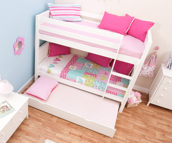 Classic Bunk Bed With Trundle Bed By Stompa