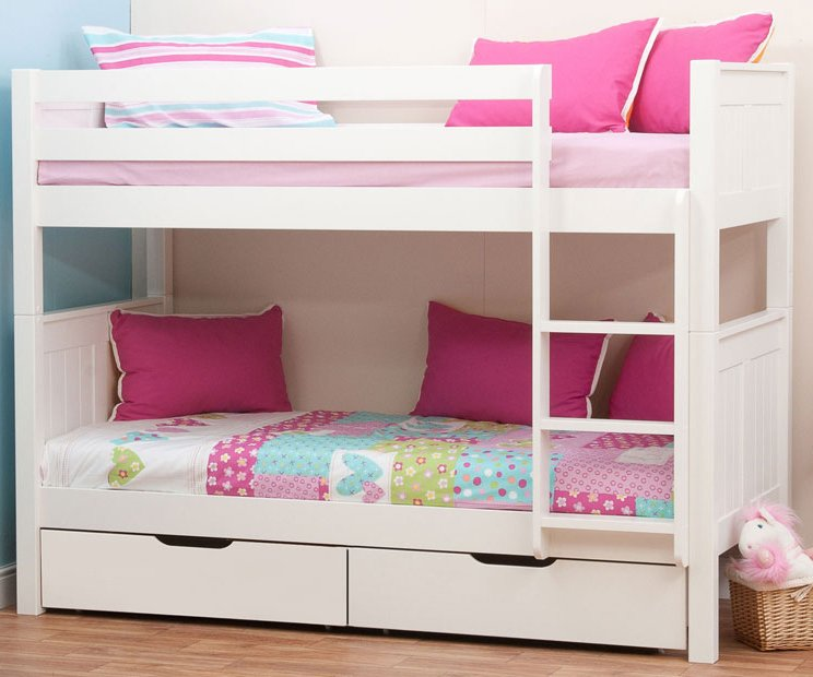 Loft Bed For Girls With Desk: Classic Bunk Bed With Underbed Drawers By STOMPA