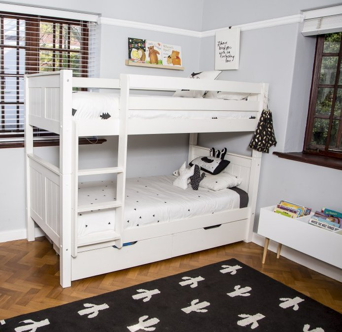 Classic Single Bed With Trundle Bed By Stompa: Classic Bunk Bed With Underbed Drawers By STOMPA