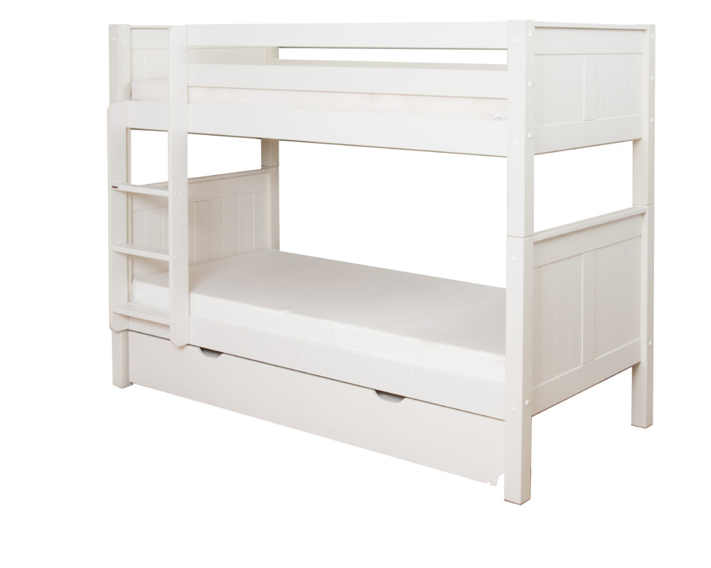classic bunk bed with trundle bed by stompa. Black Bedroom Furniture Sets. Home Design Ideas