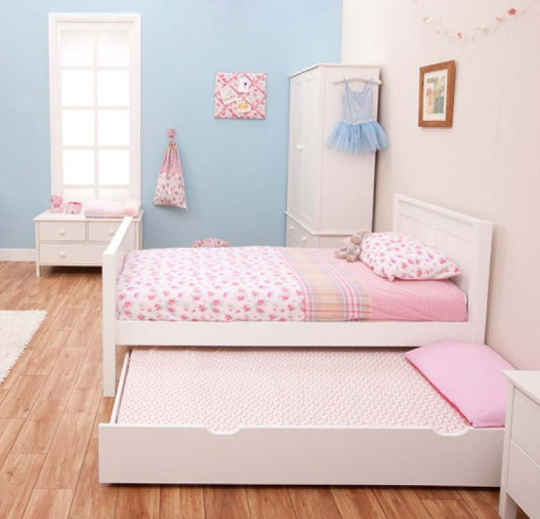 . Classic Single Bed with Trundle Bed by STOMPA