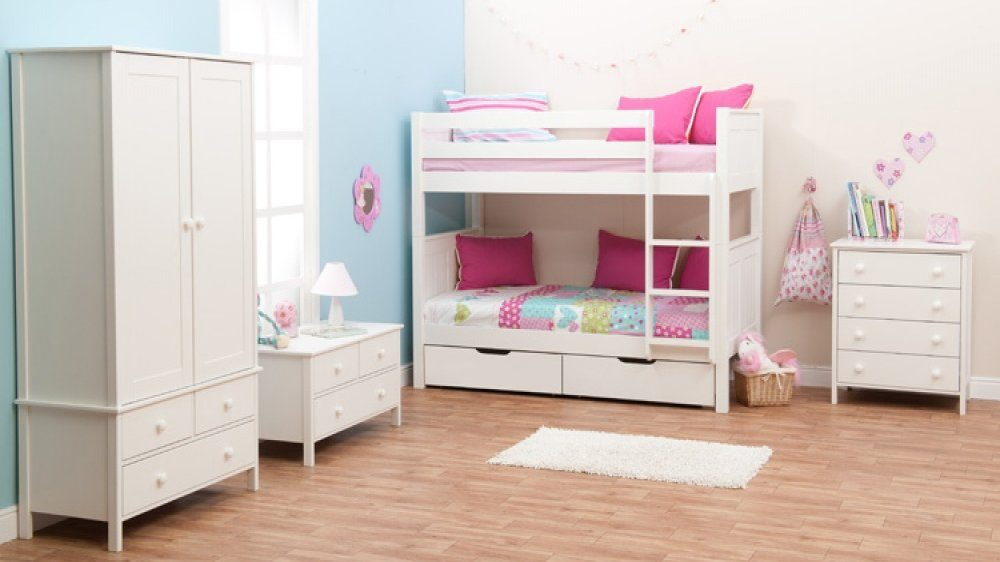classic bunk bed with underbed drawers by stompa. Black Bedroom Furniture Sets. Home Design Ideas