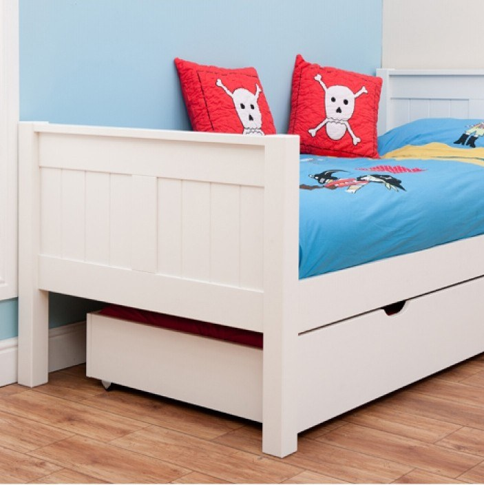 Classic Single Bed With Trundle Bed By Stompa: Classic Single Bed With Underbed Drawers By STOMPA