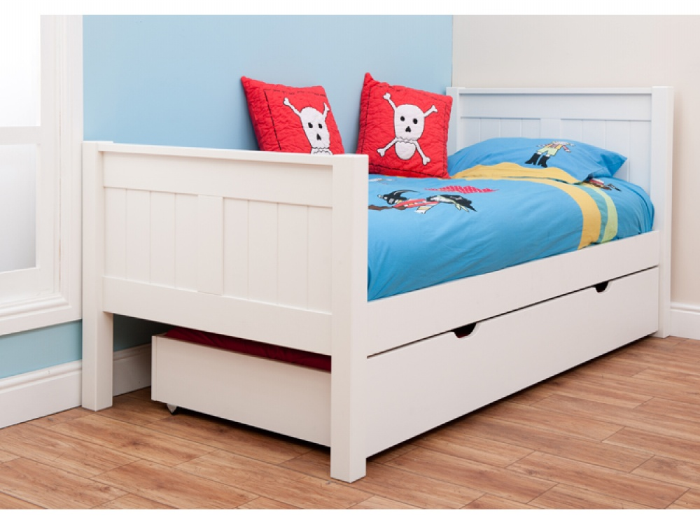 Trundle bed for girls - Classic Single Bed With Trundle Bed By Stompa