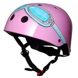 Kiddimoto Pink Goggle Safety Helmet for Kids Bikes Ride Ons